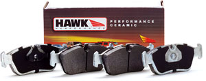 HB227Z.630 - Hawk Performance Ceramic Pads - [Rear] BMW E36 M3, E36 MZ3, E30 M3, E36 323 325 328: FMSI D396