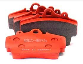 99 5541 534 - Porsche Pagid Racing Orange RS 4-4 Brake Pad Set